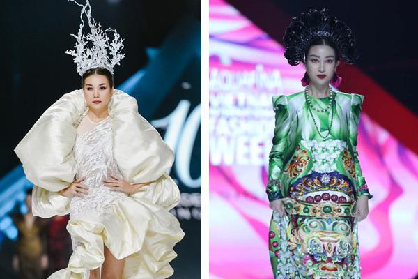 Đỗ Mỹ Linh hoá 'Mị Châu', Thanh Hằng là hoàng hậu đêm diễn thời trang
