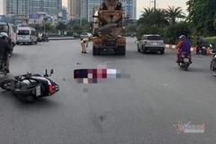 Hai mẹ con bị xe bồn tông tử vong ở bùng binh BigC Hà Nội