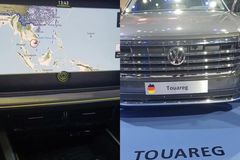 Chinese-imported Volkswagen at Vietnam Motor Show featured nine-dash line
