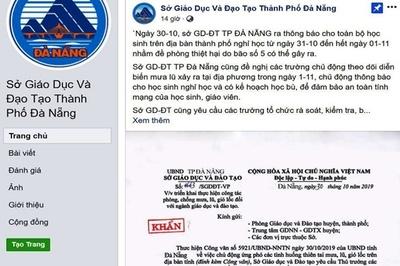 Sở Giáo dục bị giả văn bản cho học sinh nghỉ do mưa lũ