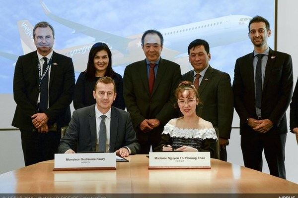 Vietjet inks deal with Airbus to order 20 A321XLR aircraft