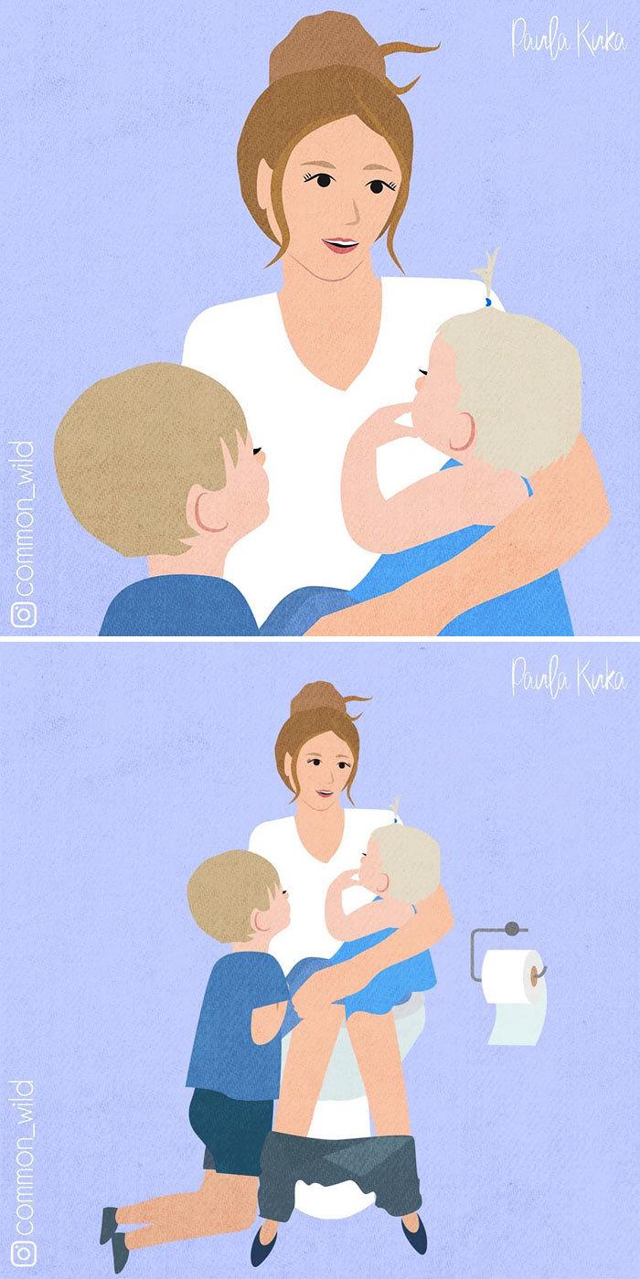 Chùm ảnh hài hước miêu tả công việc hằng ngày của mẹ bỉm sữa