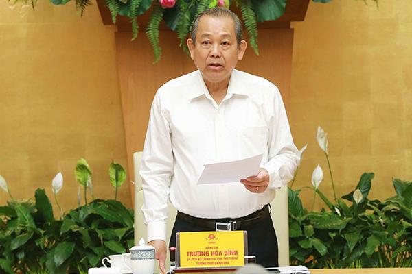 Phó Thủ tướng,Trương Hòa Bình,cải cách tư pháp