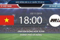 Link xem U21 Việt Nam vs U21 SV Nhật Bản, 18h ngày 3/11