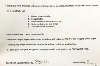 Bản hợp đồng đặc biệt của nữ diễn viên khiến con trai tự giác nghe lời