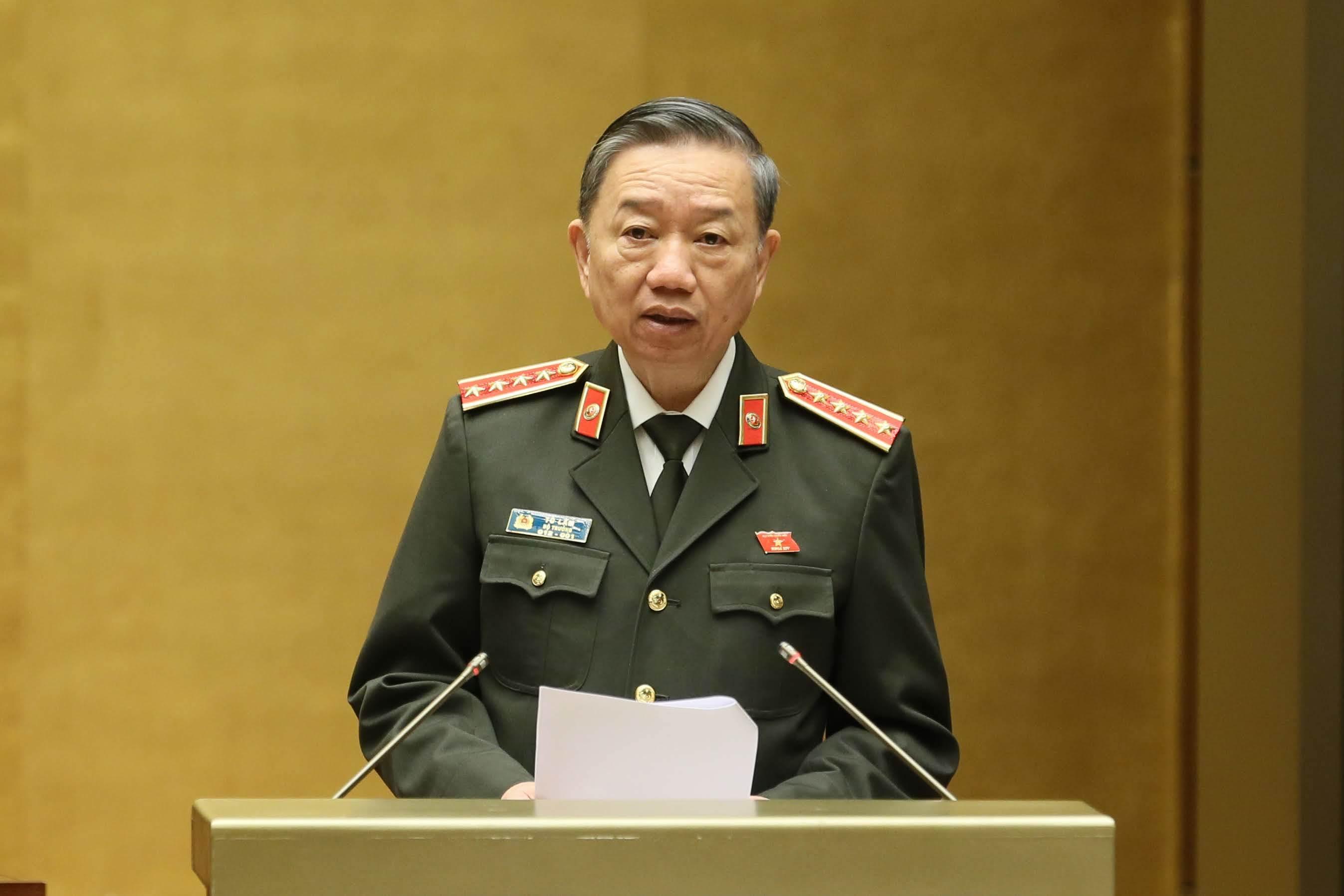 Tô Lâm,Bộ trưởng Tô Lâm,Đại tướng Tô Lâm,phản động,Quốc hội,mạng xã hội
