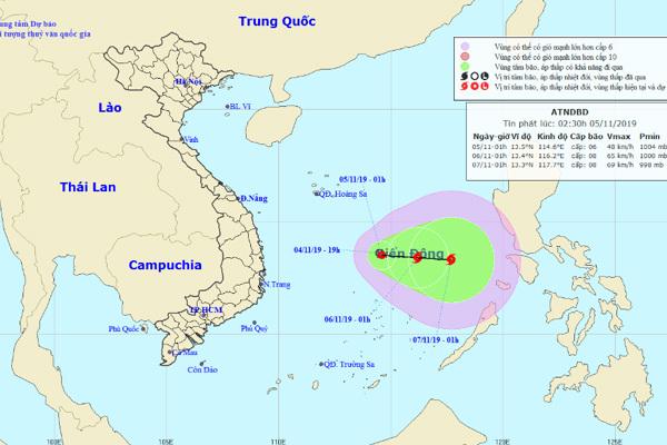 Áp thấp nhiệt đới giật cấp 8, có thể thành bão trên Biển Đông