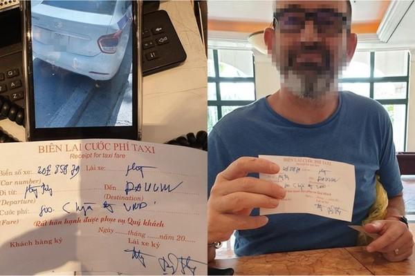Đi 4 km, khách Tây bị tài xế taxi 'chặt chém' gần 1 triệu