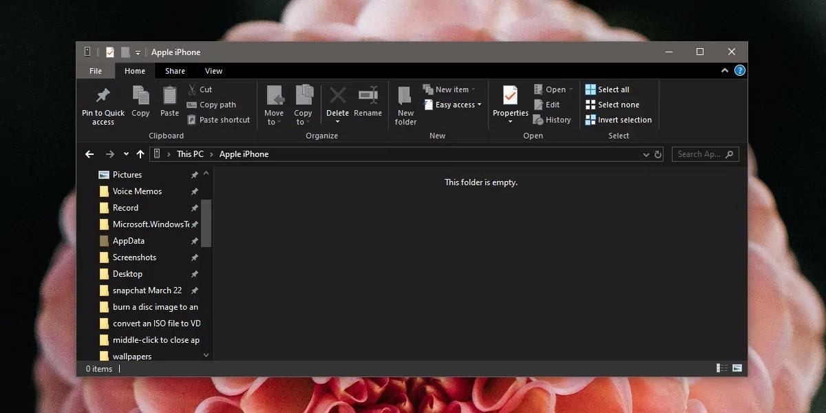 Cách sửa lỗi không thấy hình ảnh, video khi kết nối iPhone với máy tính Windows 10