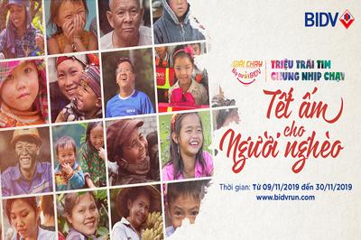 Khởi động giải chạy Nụ cười BIDV - Tết ấm cho người nghèo 2020
