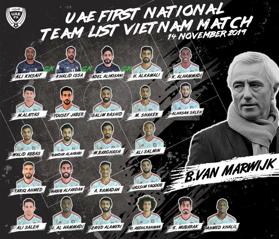 Tuyển UAE,Bert Van Marwijk,Tuyển Việt Nam,Ali Mabkhout