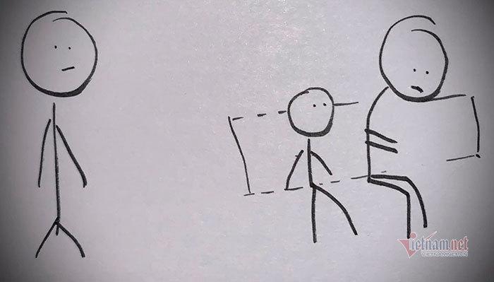 Con trai chê người lao động có mùi hôi, bố vẽ tranh dạy con về sự tử tế