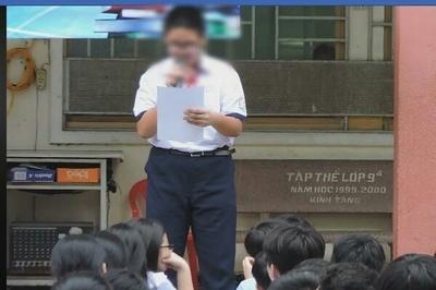 """""""Bắt học sinh kiểm điểm giữa trường rồi quay clip đưa lên mạng là phản cảm"""""""