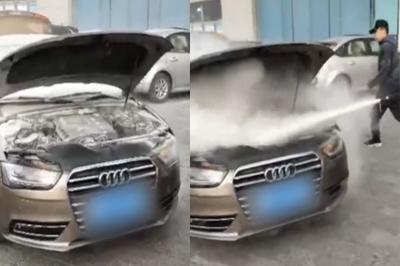 Chi hơn 400 triệu mua Audi cũ, chạy 5 ngày đã bốc cháy