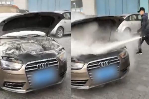 xe sang Audi,xe Audi cũ,xe Audi,Audi bốc cháy