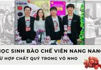 Vietnamese students prepare nano capsules from compound in grapes