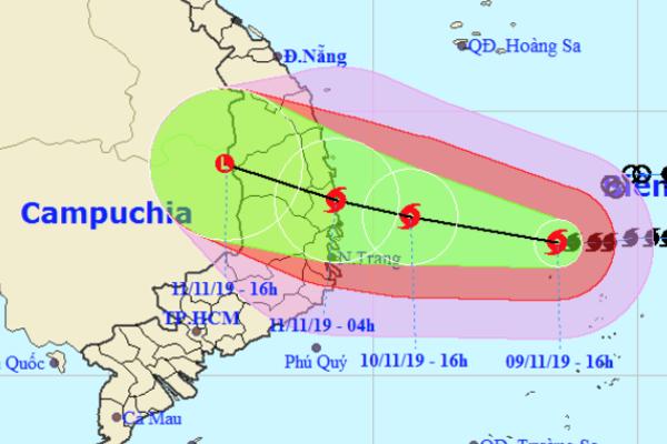 Bão số 6 cách Quảng Ngãi - Khánh Hòa 450km, nguy cơ ngập lụt