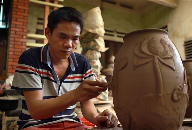 Huong Canh pottery,vinh phuc,vietnam pottery