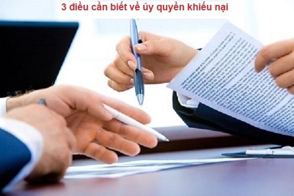 Hiệu lực của giấy ủy quyền trong khiếu nại hành chính?