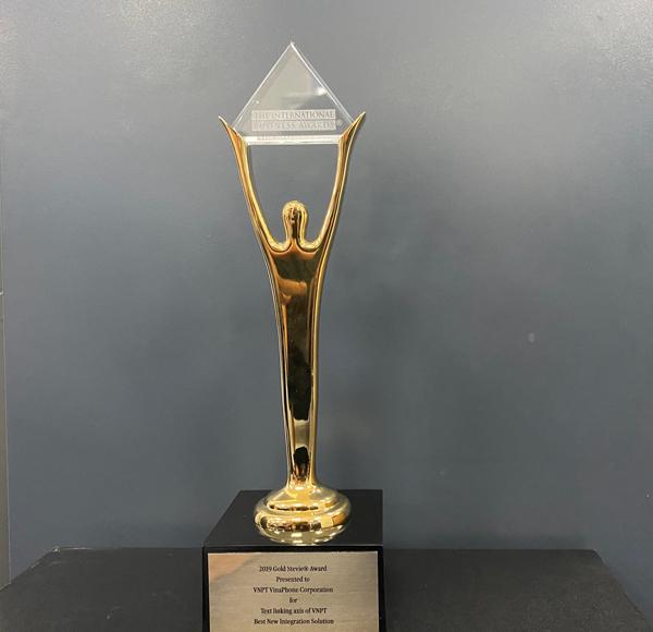 Tiên phong Trục liên thông văn bản quốc gia, VNPT 'hái' Giải Vàng Stevie Awards 2019