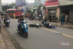 Xe ôm công nghệ đâm xe máy, khách nữ va đầu vào xe buýt thiệt mạng