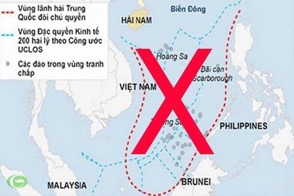 Be careful with imported products featuring China's illegal nine-dash line