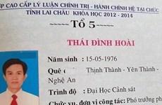 Trưởng phòng Cảnh sát kinh tế ở Lai Châu sử dụng bằng giả