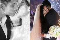 Sau gần 5 năm làm vợ thiếu gia, Tâm Tít lần đầu tiên chịu khoe ảnh cưới ngập 'cảnh nóng'