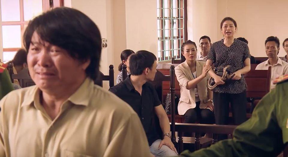 'Sinh tử' tập 8, Phiên toà náo loạn vì vợ Tỵ hét lên là bị lừa, nhắn chồng không nhận tội