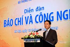 """Phát biểu của Bộ trưởng Bộ TT&TT Nguyễn Mạnh Hùng tại Diễn đàn """"Báo chí và Công nghệ"""""""