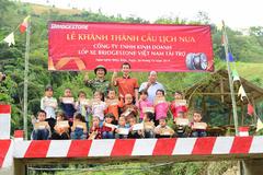 Những cây cầu Bridgestone, 'phép màu kì diệu' tặng trẻ em vùng lũ
