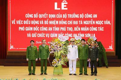 Phó giám đốc Công an Phú Thọ làm Giám đốc Công an Sơn La