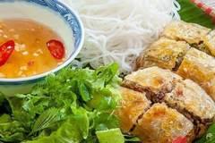 Vietnamese food: Crab spring rolls