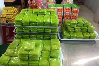 Vietnamese food: Young sticky rice flakes