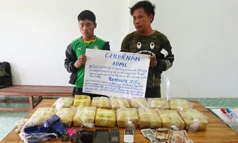 Laotian men,synthetic drugs,Laos,Border guards,Dien Bien province,Golden Triangle