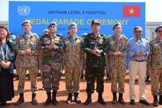 Vietnamese peacekeepers in South Sudan honoured with UN peacekeeping medals