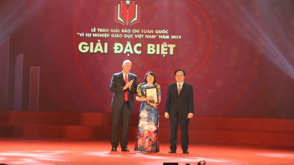VietNamNet đoạt giải A giải báo chí  'Vì sự nghiệp giáo dục' 2019