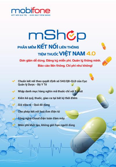 MobiFone cung cấp giải pháp quản lý tiệm thuốc, quản lý cửa hàng mShop