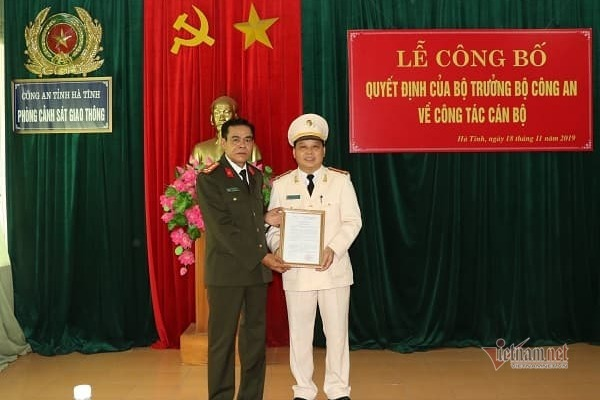 Hà Tĩnh có tân trưởng phòng cảnh sát giao thông