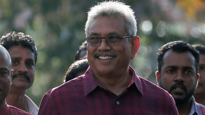 Sri Lanka election: Wartime defence chief Rajapaksa wins presidency