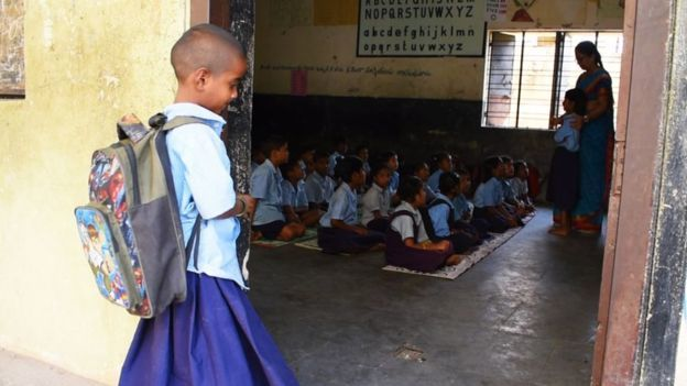 The truth behind India's viral photo that got a girl into school
