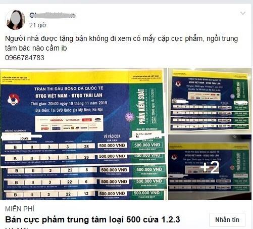 Vé xem Việt Nam vs Thái Lanbị hét giá...'trên trời'