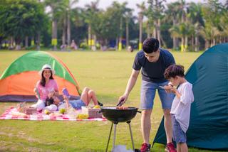 Độc, lạ ngày hội cắm trại dành cho cả gia đình ở Khu đô thị Ecopark