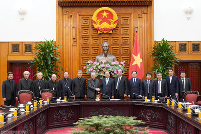 Thủ tướng tiếp Hội đồng Giám mục Việt Nam