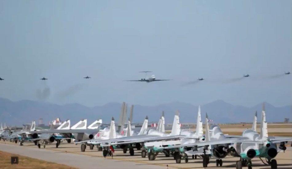 Chuyên cơ của Kim Jong Un tái xuất, 6 tiêm kích hộ tống