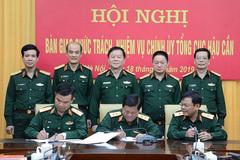 Bàn giao chức trách, nhiệm vụ Bí thư Đảng ủy, Chính ủy Tổng cục Hậu cần