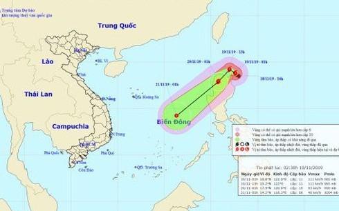 Typhoon Kalmaegi,East Sea,tropical depression,cold air,Song Tu Tay