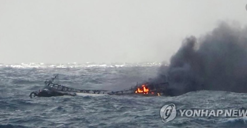 Tìm kiếm xuyên đêm 6 người Việt mất tích vì cháy tàu cá Hàn Quốc