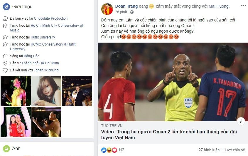Sao Việt từ hạnh phúc tới bức xúc vì diễn biến trận Việt Nam – Thái Lan