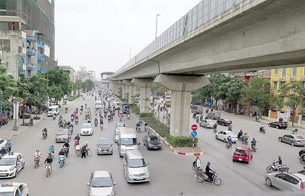 Hanoi spends $4.7m to upgrade road under Cat Linh-Ha Dong railway project